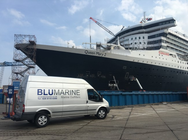 Queen Mary 2 finished ahead of schedule